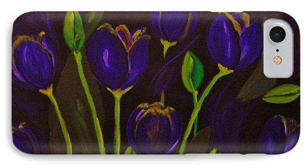 IPhone Case featuring the painting Purpleluscious by Celeste Manning