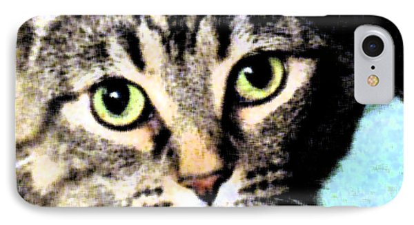 IPhone Case featuring the photograph Purrfectly Bright Eyed by Nina Silver