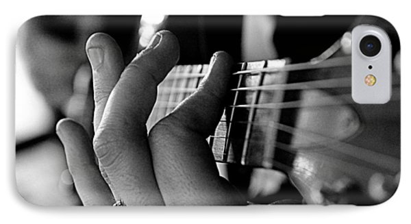 IPhone Case featuring the photograph Pushing Frets by Bartz Johnson