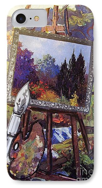 IPhone Case featuring the painting Put Color In Your Life by Eloise Schneider