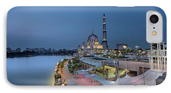 Putra Mosque At Blue Hour Phone Case by David Gn