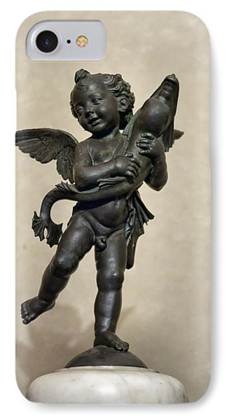Putto With Dolphin By Verrocchio Phone Case by Melany Sarafis
