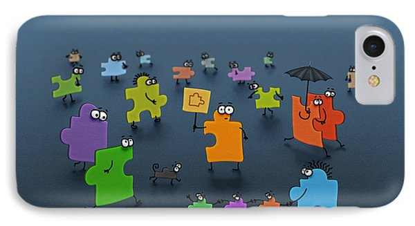 Puzzle Family Phone Case by Gianfranco Weiss