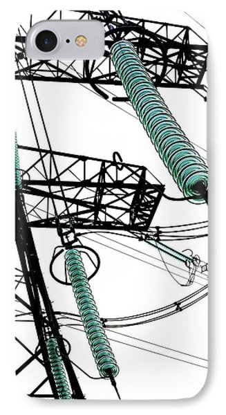 Pylon With Glass Insulator Strings IPhone Case by Cordelia Molloy