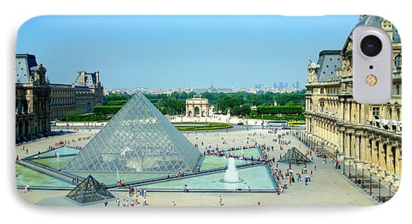 IPhone Case featuring the photograph Pyramid At The Louvre by Kay Gilley