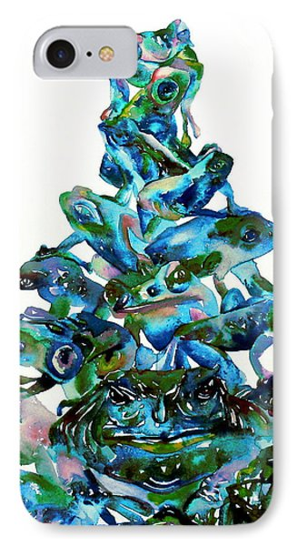 Pyramid Of Frogs And Toads IPhone Case by Fabrizio Cassetta