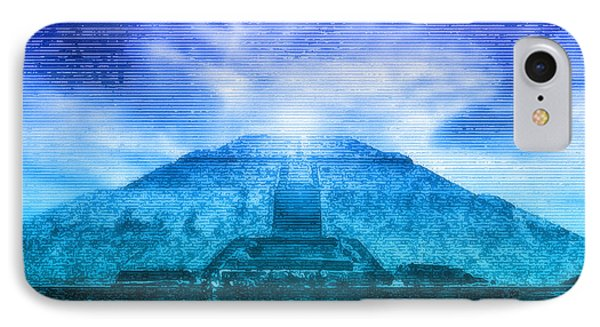 Pyramid Of The Sun Phone Case by WB Johnston
