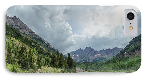 Pyramid Peak And The Maroon Bells IPhone Case by Adam Pender