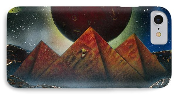 IPhone Case featuring the painting Pyramids 4663 by Greg Moores