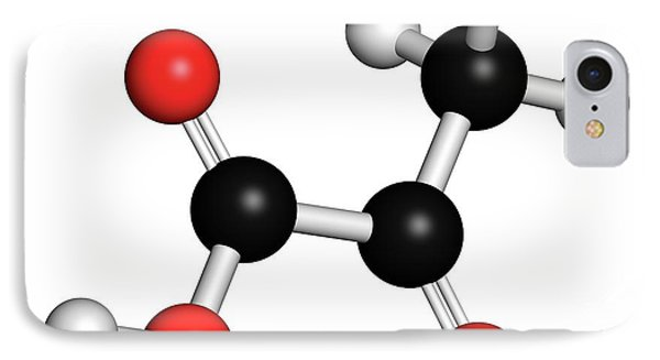 Pyruvic Acid Pyruvate Molecule IPhone Case by Molekuul