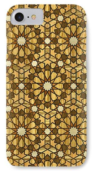 Qarawiyyin Mosque Geometric Pattern 1 Wood Phone Case by Hakon Soreide