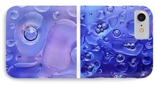 IPhone Case featuring the photograph Quadryptich Of Colorful Water Bubbles by Peter v Quenter