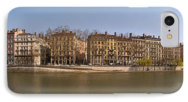 Quai Du Marechal Joffre Along The Saone IPhone Case by Panoramic Images