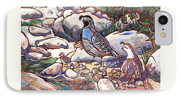 Quail Family IPhone Case by Nadi Spencer