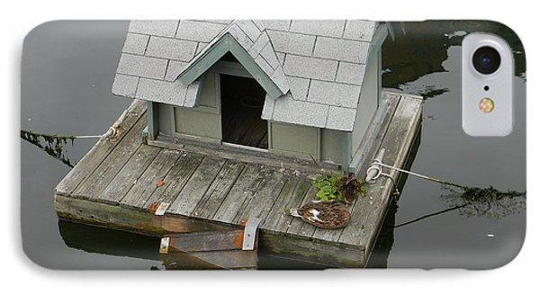 Quaint Duckling Boat House IPhone Case