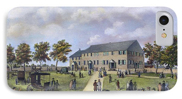 Quaker Meeting House, 1857 IPhone Case by Granger