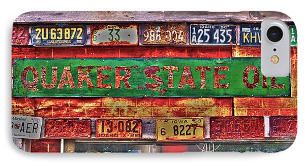 Quaker State Motor Oil IPhone Case by Frank Martin