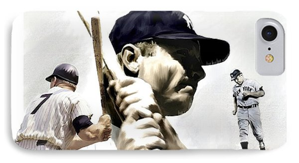 Quality Of Greatness Mickey Mantle IPhone 7 Case by Iconic Images Art Gallery David Pucciarelli