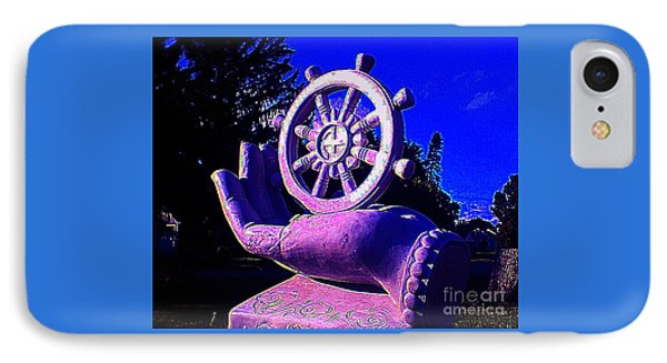 Buddhist Dharma Wheel 2 IPhone Case by Peter Gumaer Ogden