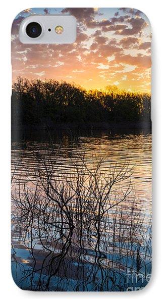 Quanah Parker Lake Sunrise Phone Case by Inge Johnsson