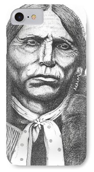Quanah Parker IPhone Case by Lawrence Tripoli