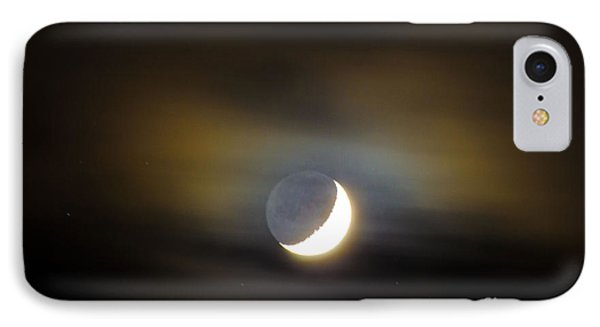 Quarter Moon IPhone Case by Judy Wolinsky