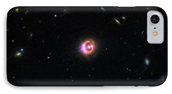 Quasar IPhone Case by X-ray: Nasa/cxc/univ Of Michigan/r.c.reis Et Al; Optical: Nasa/stsci
