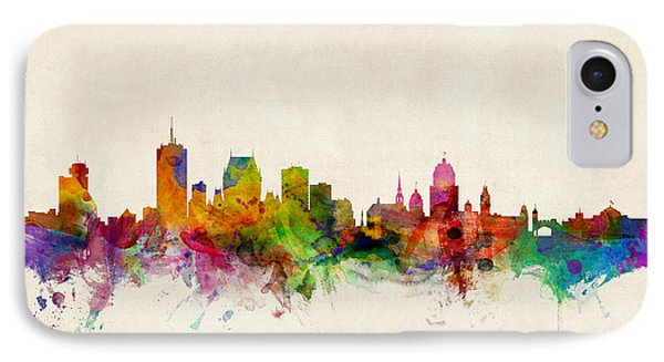 Quebec Canada Skyline Phone Case by Michael Tompsett