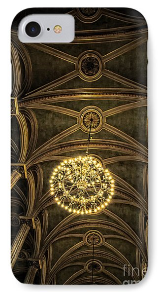 Quebec City Canada Ornate Grand Hall Or Church Ceiling IPhone Case by Edward Fielding