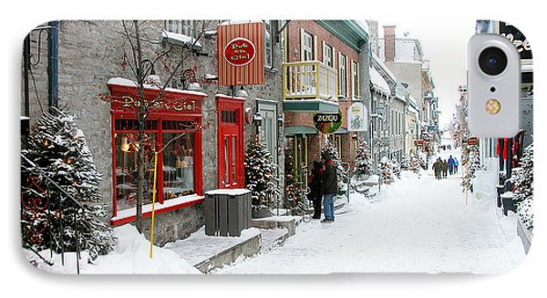 Quebec City In Winter Phone Case by Thomas R Fletcher