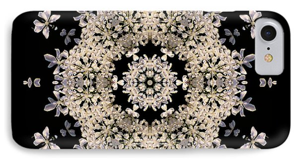 Queen Anne's Lace Flower Mandala Phone Case by David J Bookbinder
