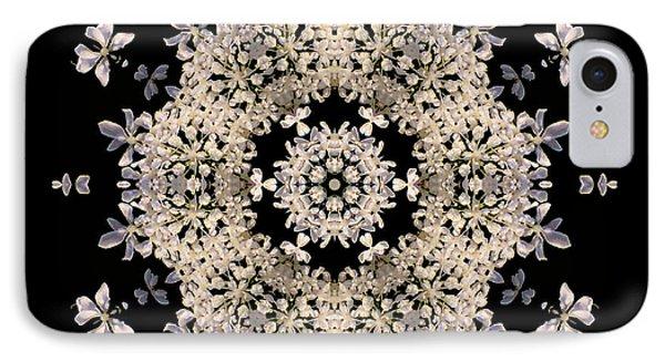 Queen Anne's Lace Flower Mandala IPhone Case