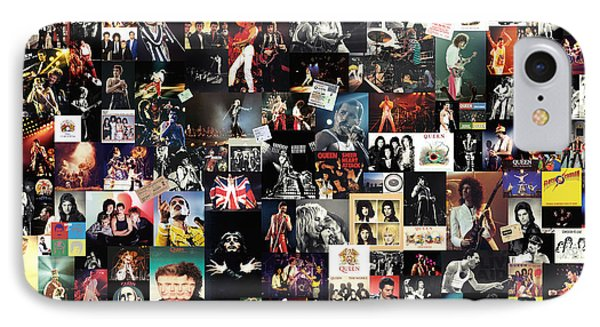 Led Zeppelin iPhone 7 Case - Queen Collage by Zapista