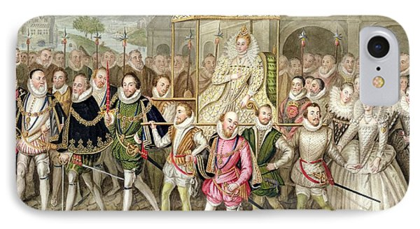 Queen Elizabeth I In Procession IPhone Case