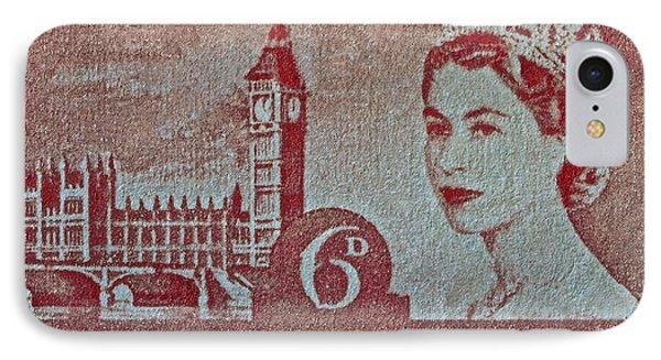 Queen Elizabeth II Big Ben Stamp IPhone Case