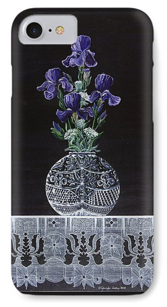 IPhone Case featuring the painting Queen Iris's Lace by Jennifer Lake
