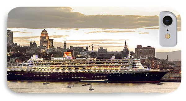 Queen Mary II Cruise Ship, Chateau Phone Case by Jean Desy