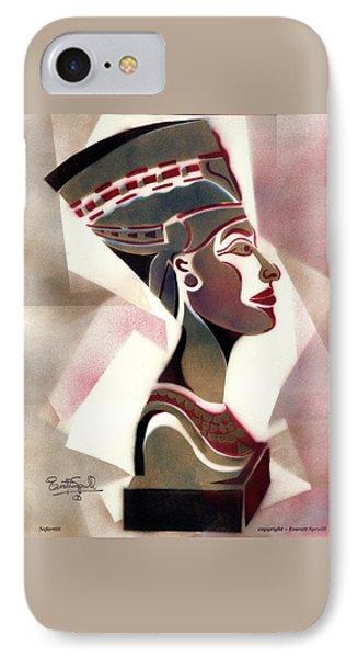 Queen Nefertiti IPhone Case by Everett Spruill