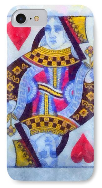 Queen Of Hearts IPhone Case by Dan Sproul