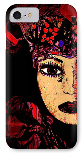 Queen Of Hearts Phone Case by Natalie Holland