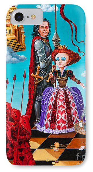 IPhone Case featuring the painting Queen Of Hearts. Part 1 by Igor Postash