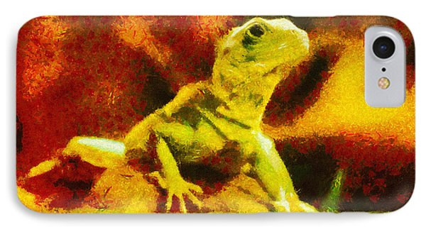 Queen Of The Reptiles IPhone Case by Ayse Deniz