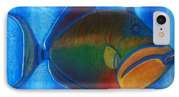 Queen Triggerfish  1 IPhone Case by Chad Gill