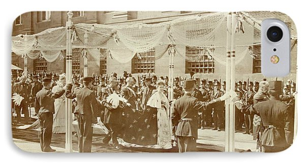 Queen Wilhelmina Under The Canopy During Her Inauguration IPhone Case