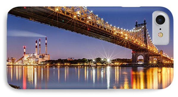 Queensboro Bridge IPhone Case by Mihai Andritoiu