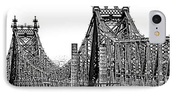 Queensborough Or 59th Street Bridge IPhone Case by Steve Archbold