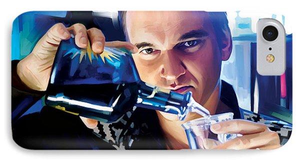Quentin Tarantino Artwork 1 IPhone Case by Sheraz A