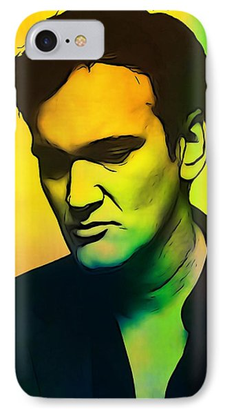 Quentin Tarantino  IPhone Case by Dan Sproul