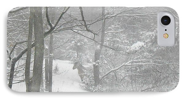 Querida In The Snow Storm Phone Case by Patricia Keller
