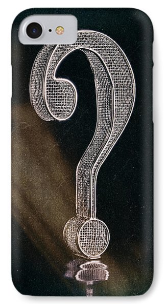 Question Mark IPhone Case by Tom Mc Nemar
